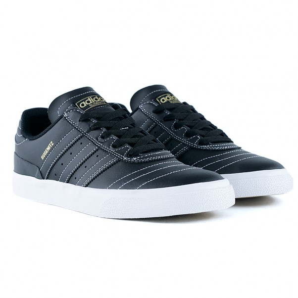 cb2bab4c03 Adidas Skateboarding Busenitz Vulc Leather Black Black White at ...