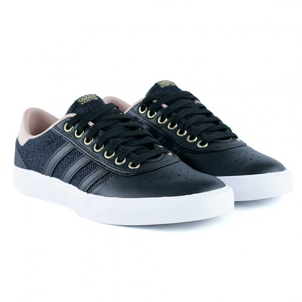 Adidas Skateboarding Lucas Premiere Core Black Ash Pearl Gold Metallic Skate Shoes