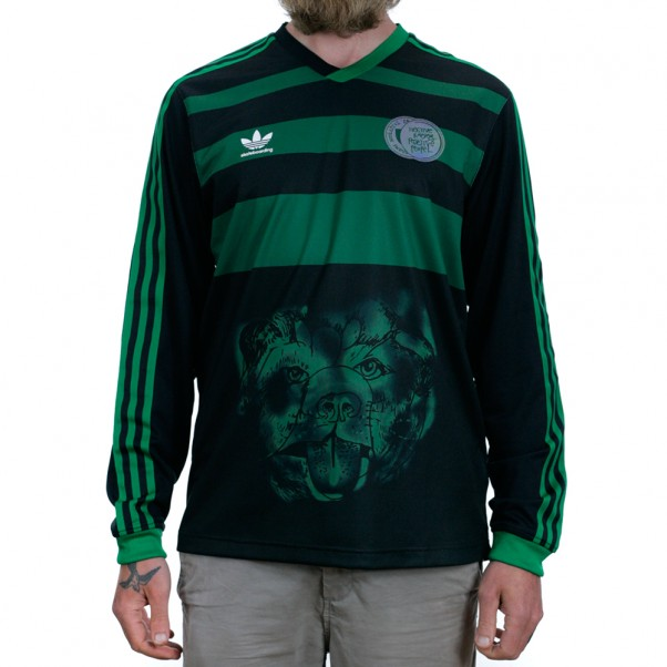 Adidas Skateboarding World Cup Tyshawn Goal Keeper Jersey Shirt Black Green