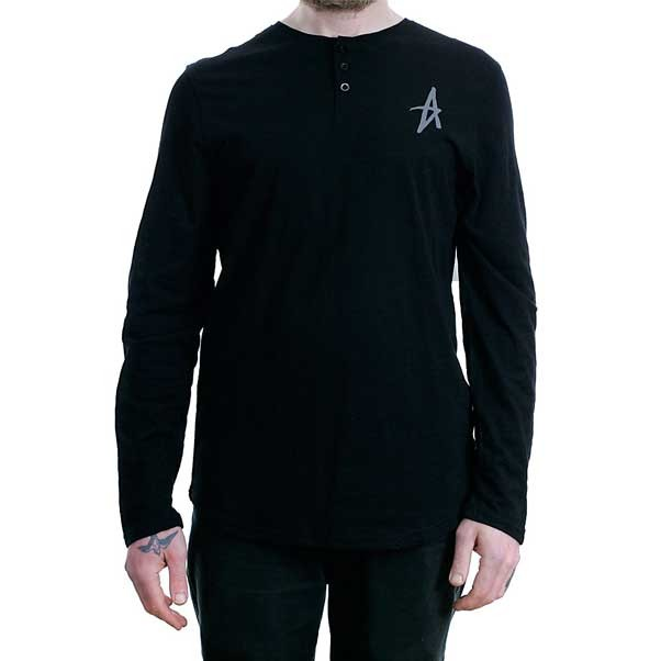 Altamont Spansive Henley Long Sleeved T-Shirt Black