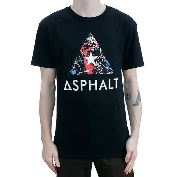 Asphalt Yacht Club Sprayed Delta T-Shirt Black