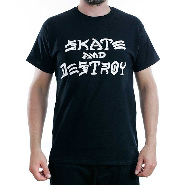 Thrasher Magazine Black Skate & Destroy T-shirt