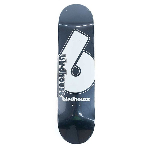 Birdhouse Skateboards Logo Deck Giant B Skateboard Deck Black 8.25""