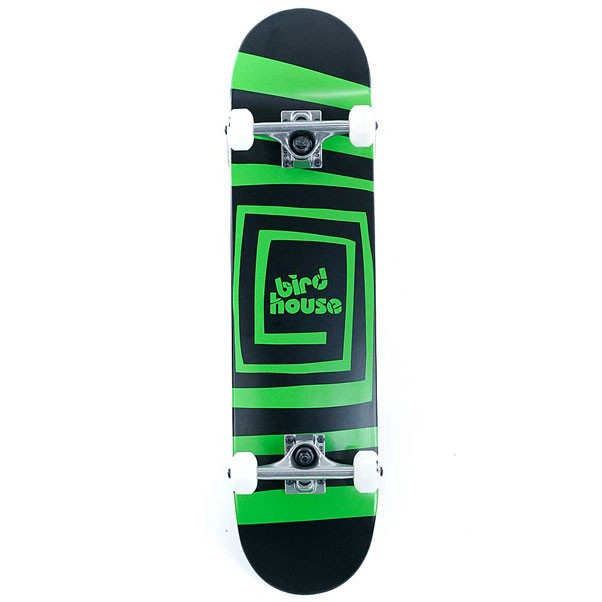 Birdhouse Skateboards Stage 1 Psycho Logo Factory Complete Skateboard Black Green 7.5""
