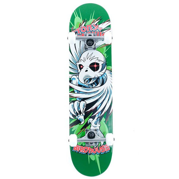 Birdhouse Skateboards Stage 1 Hawk Spiral Factory Complete Skateboard Green 7.5""
