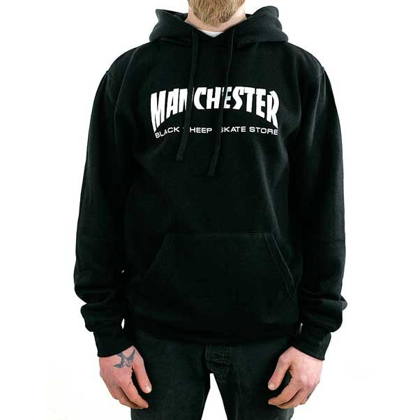 Black Sheep Manchester Thrasher Hooded Sweatshirt Black