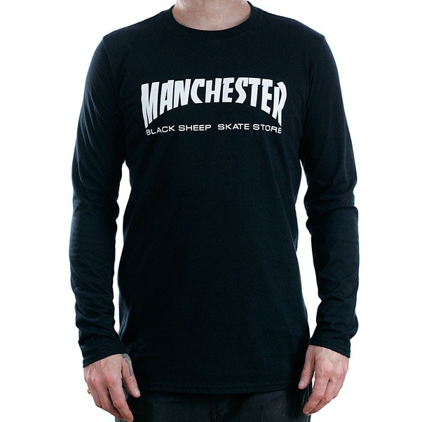 Black Sheep Manchester Long Sleeved T-Shirt Black