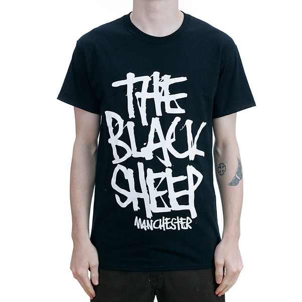 Black Sheep Stacked Black/White T-Shirt
