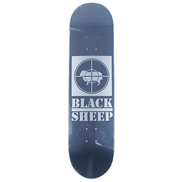 Black Sheep Target Charcoal Silver Skateboard Deck 8.25""