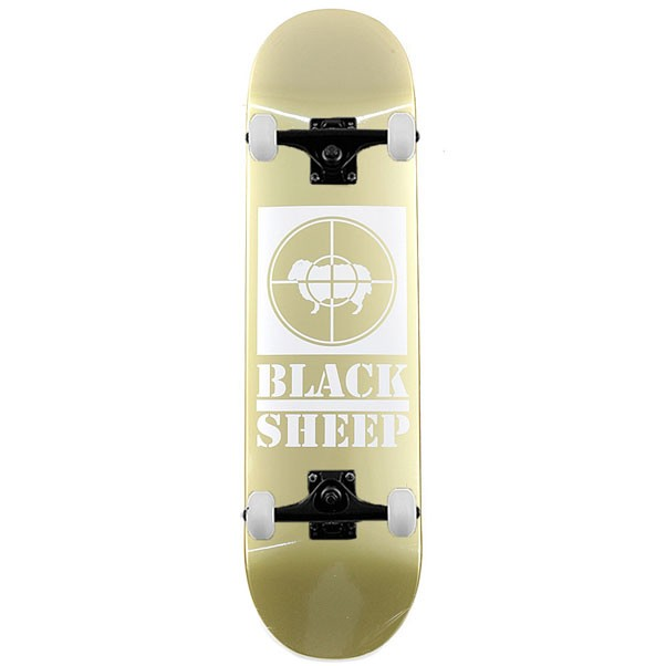 Black Sheep Target Complete Skateboard Gold 8.25""