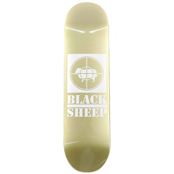 Black Sheep Target Skateboard Deck Gold 8.25""