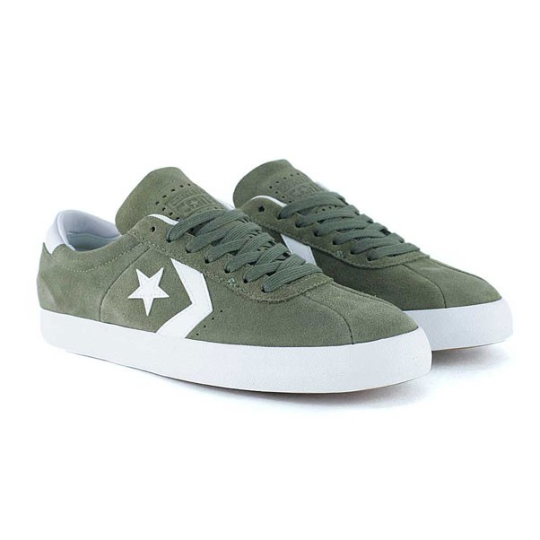 Converse Cons Breakpoint Pro Suede Medium Olive White Skate Shoes