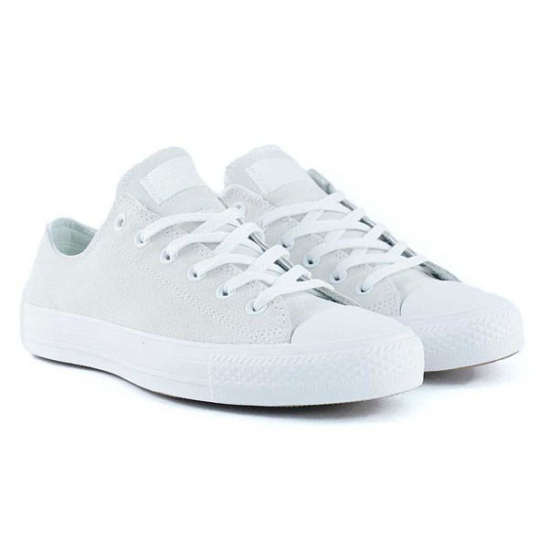 Converse Cons Ctas Pro Ox White White Teal Skate Shoes