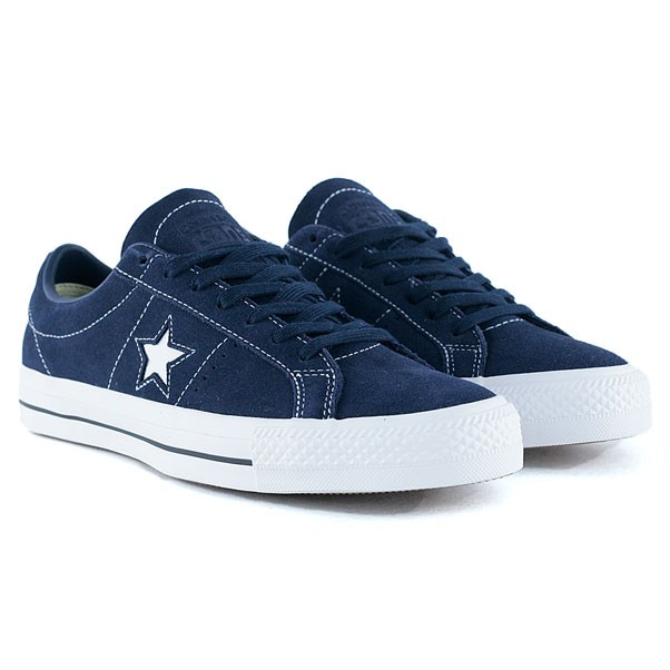 Converse Cons One Star Pro Ox Obsidian White Skate Shoes