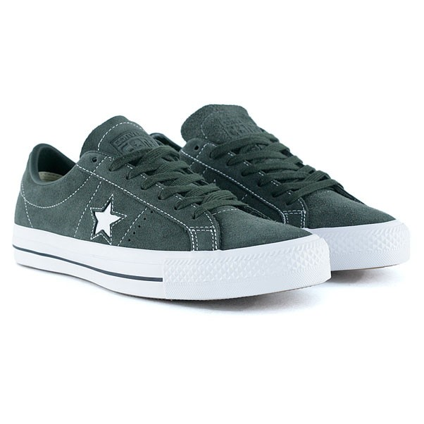 Converse Cons One Star Pro Ox Sequoia White Skate Shoes