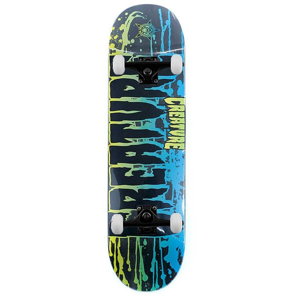 Creature Skateboards Reverse Stain Black Complete Skateboard 8.375""