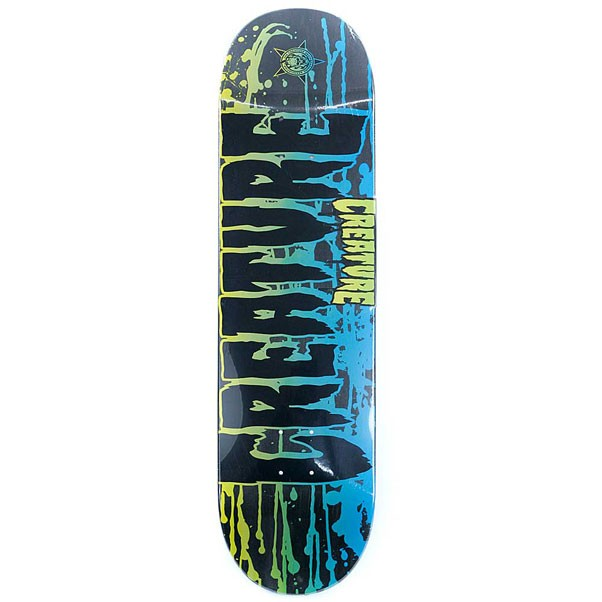 Creature Skateboards Reverse Stain Black Skateboard Deck 8.375""