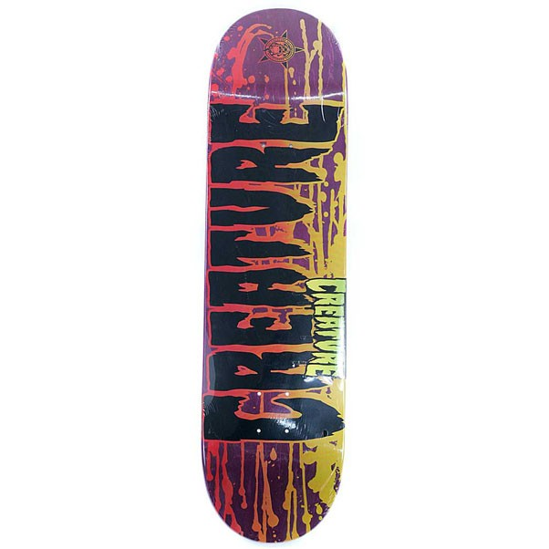 Creature Skateboards Reverse Stain Purple Skateboard Deck 8.26""