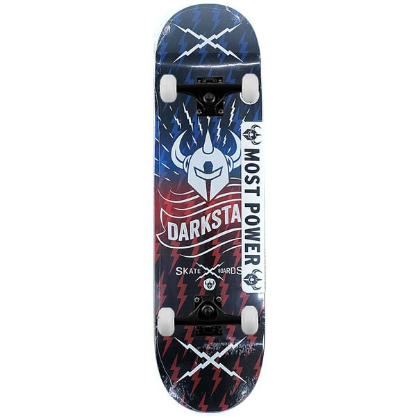 Darkstar Skateboards Axis Rhm Red Blue Complete Skateboard 8.375""