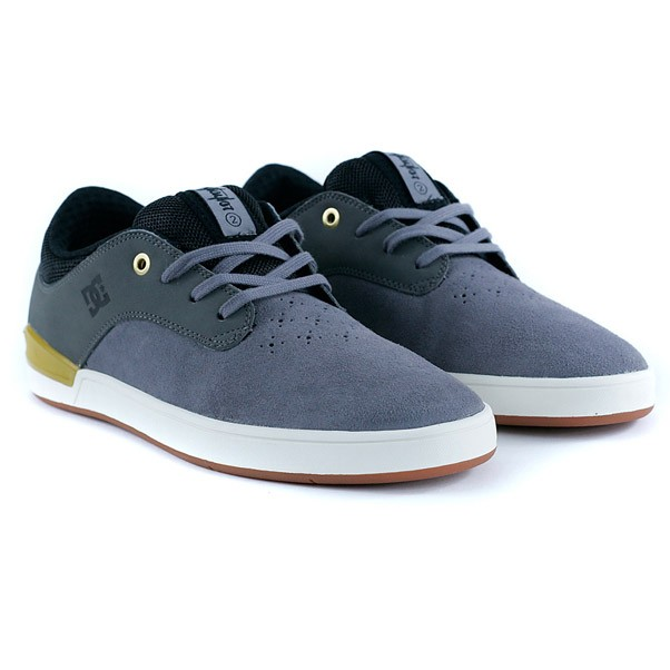 DC Mikey Taylor 2 Grey Yellow Skate Shoes