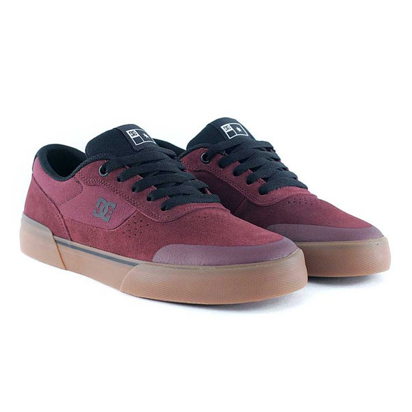 DC Shoes Switch Plus S Maroon Skate Shoes