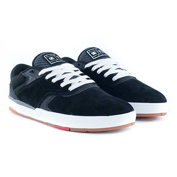 DC Shoes Tiago S Black White Red Skate Shoes