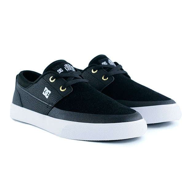 Dc Shoes Wes Kremer 2 Black Gold Skate Shoes