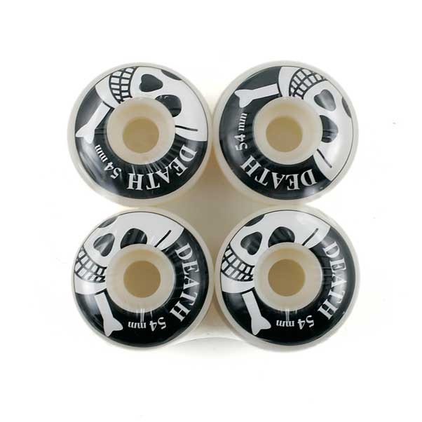 Death Black/White 54mm Skateboard Wheels