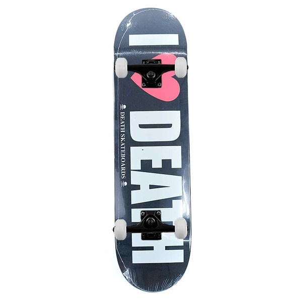 Death Skateboards I Heart Death Complete Skateboard Black 8.4""
