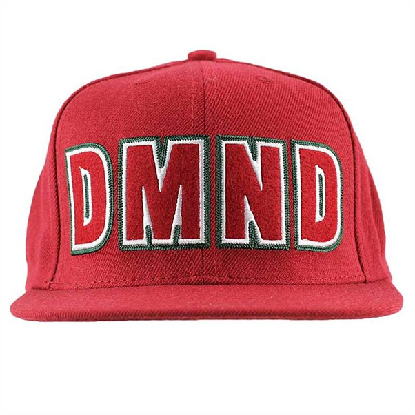 Diamond Felt Embroidered Snapback Snapback Red.