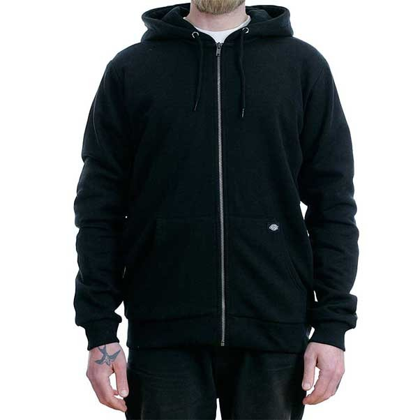 Dickies Kingsley Zip Hooded Sweatshirt Black