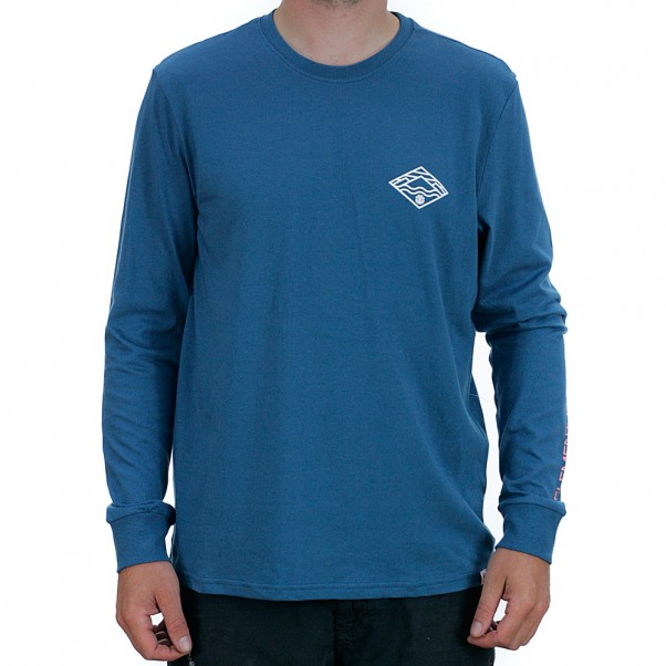 Element Layer Long Sleeved T-Shirt Blue Steel