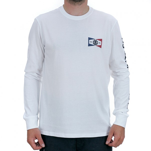 Element Segment Long Sleeved T-Shirt Optic White