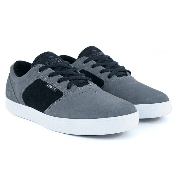 Emerica Footwear Figgy Dose Grey Black Skate Shoes