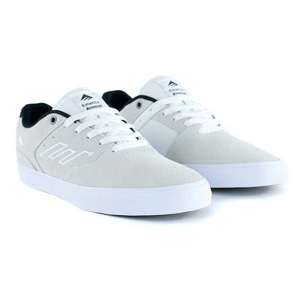 Emerica Reynolds Low Vulc White Black Skate Shoes