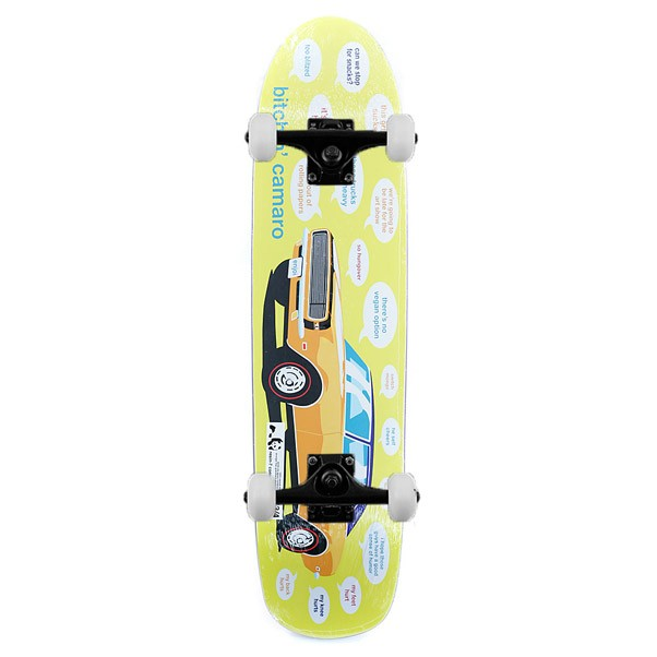 Enjoi Bitchin Camaro 67 Complete Skateboard Yellow 7.75""