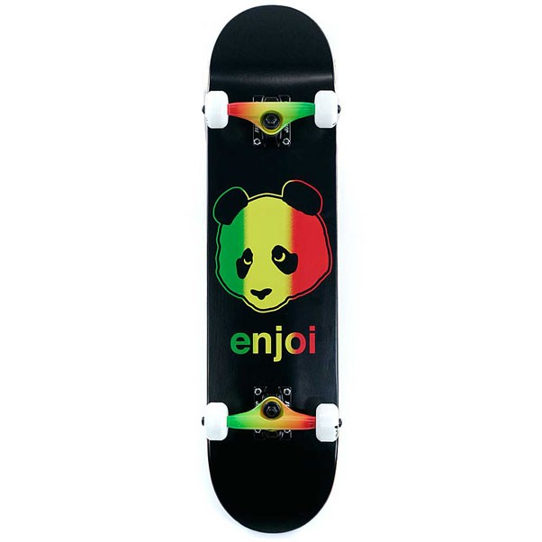 Enjoi Skateboards Rastafari Panda Rasta Factory Complete Skateboard 7.5""