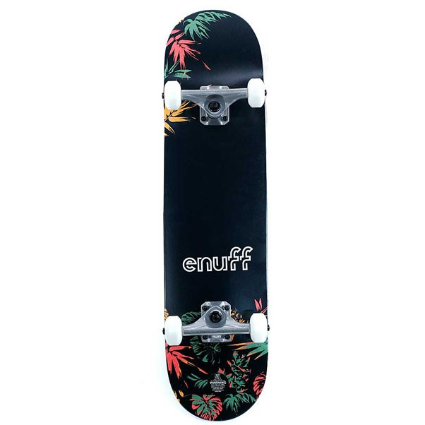 Enuff Skateboards Floral Factory Complete Skateboard Orange 7.75""