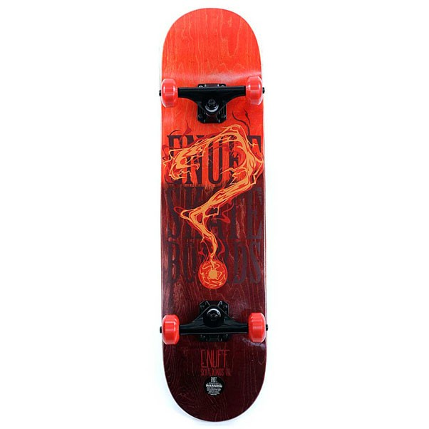 Enuff Skateboards Pyro Fade Factory Complete Skateboard Red 7.75""