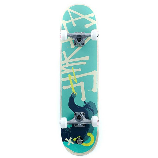 Enuff Skateboards Tag Graffiti Factory Complete Skateboard Green 7.75""