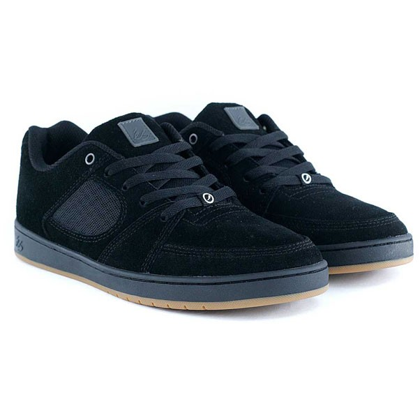 Es Footwear Accel Slim Black Black Gum Skate Shoes