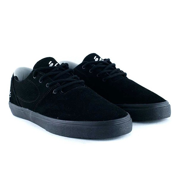 Es Footwear Accel SQ Black Black Grey Skate Shoes