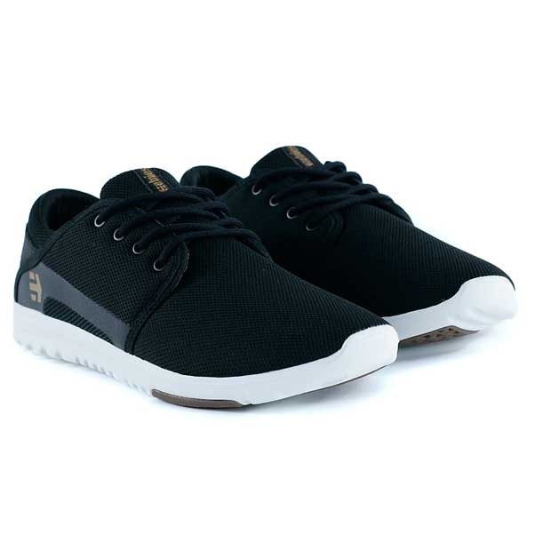 Etnies Scout Black White Gum Trainers
