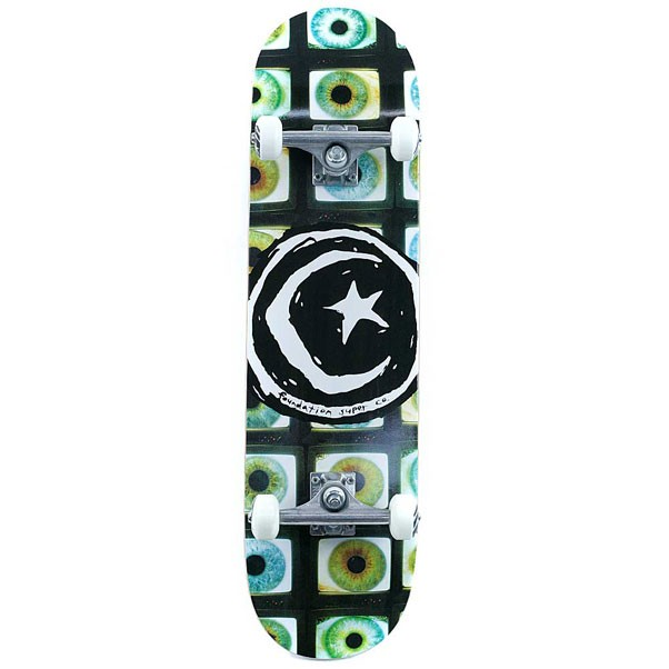 """Foundation Skateboards Star And Moon Pupil Factory Complete Skateboard 8.25"""""""