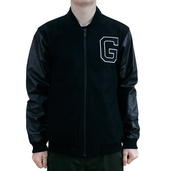 Grizzly Gridiron Varsity Jacket Black