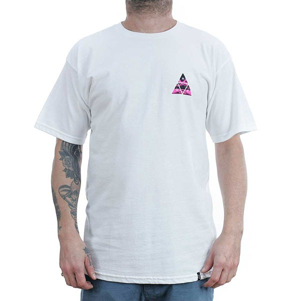 Huf Dimensions Triangle T-Shirt White