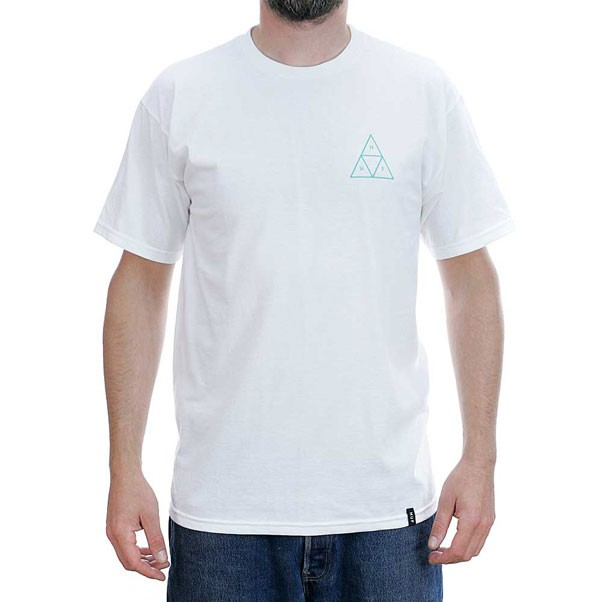 Huf Triple Triangle UV T-Shirt White