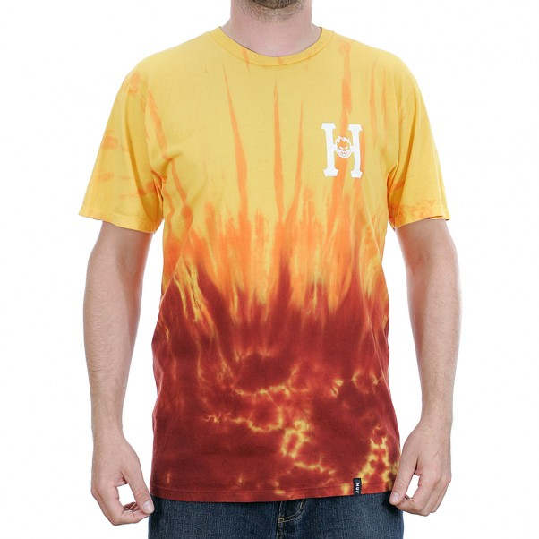 Huf x Spitfire Classic H Short Sleeved T-Shirt Red