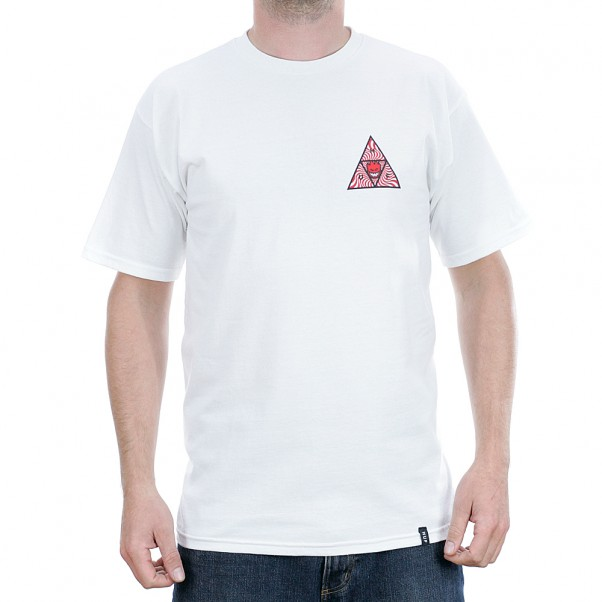 Huf x Spitfire Triple Triangle Short Sleeved T-Shirt White