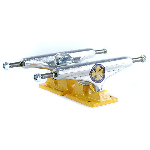 Independent Stage 11 Strike Cross Skateboard Trucks Polish Yellow 149mm